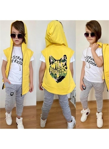 Quzucuk Kids Eşofman Takım Sarı